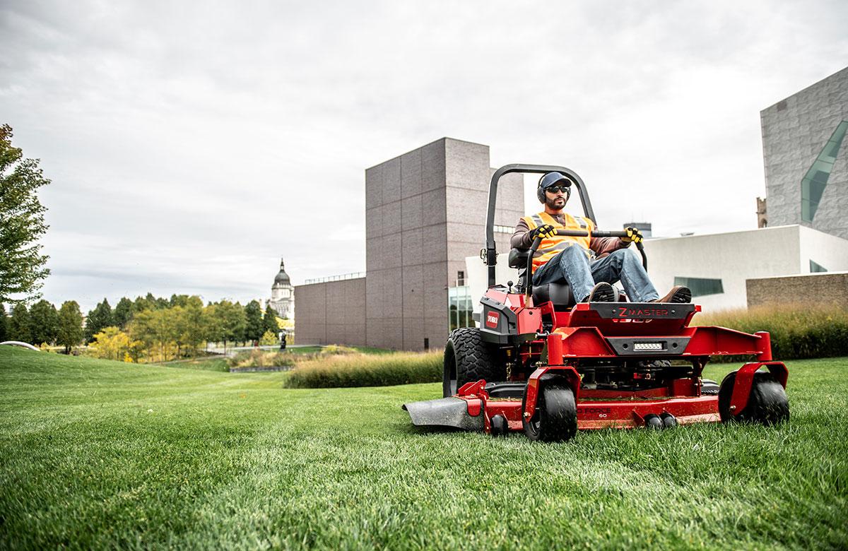 Professional zero turn mowers, stand-on mowers, turf renovation equipment