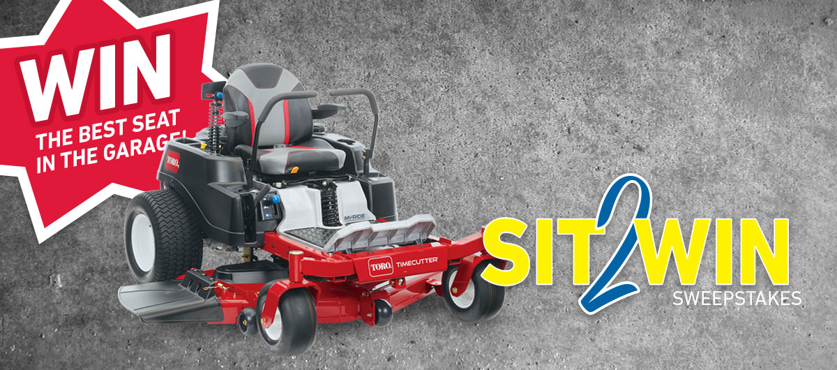 Toro Sit2Win sweepstakes