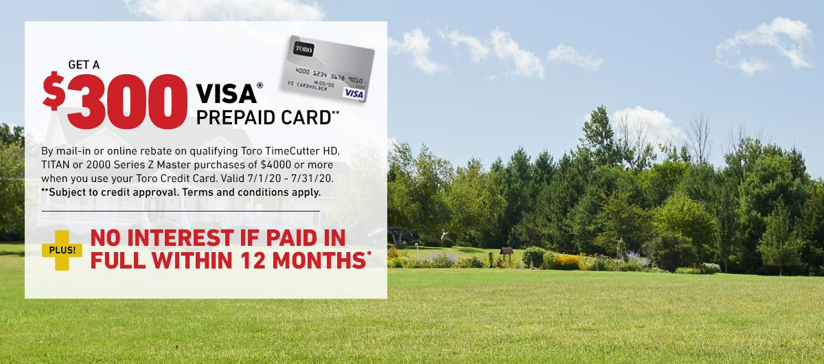 Toro $300 Visa Prepaid Card
