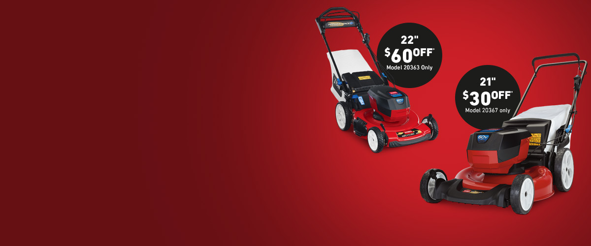 Toro 60V Electric Battery Lawn Mowers
