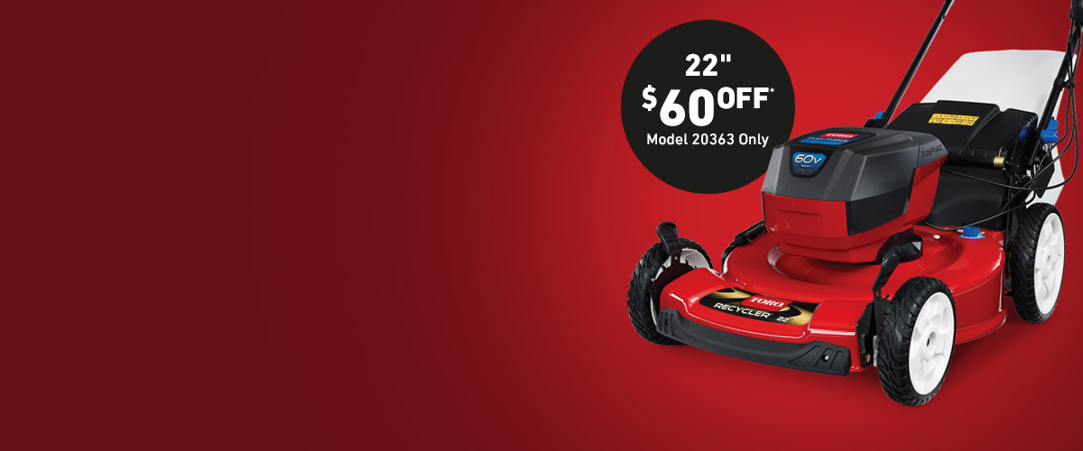 $60 Off Battery Electric Mowers