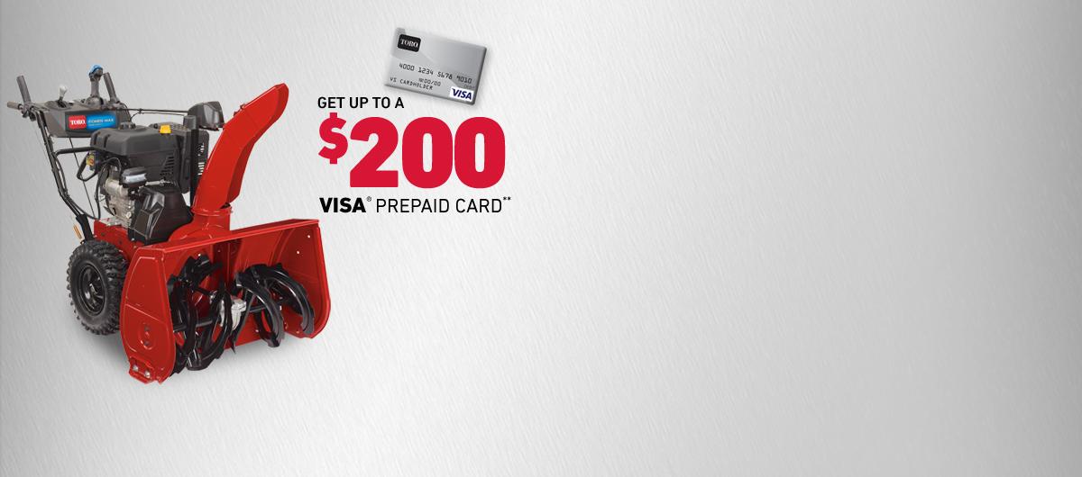 Get Up To A $200 Visa Prepaid Card