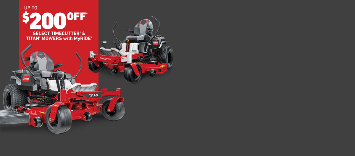 $200 Off Toro Select Zero Turn Mowers With MyRIDE
