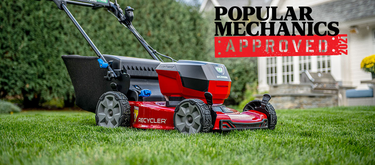 Popular Mechanics award for high quality on Toro 60 volt battery mower 21466