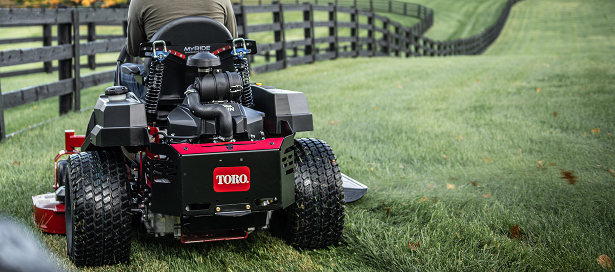 Mow long hours on the most comfortable Toro zero turn with MyRide suspension
