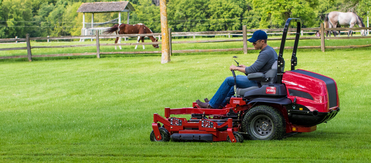 "More power, more comfort, more productive. Get more out of your day with the new 96"" Z Master 7500-G zero turn mower."
