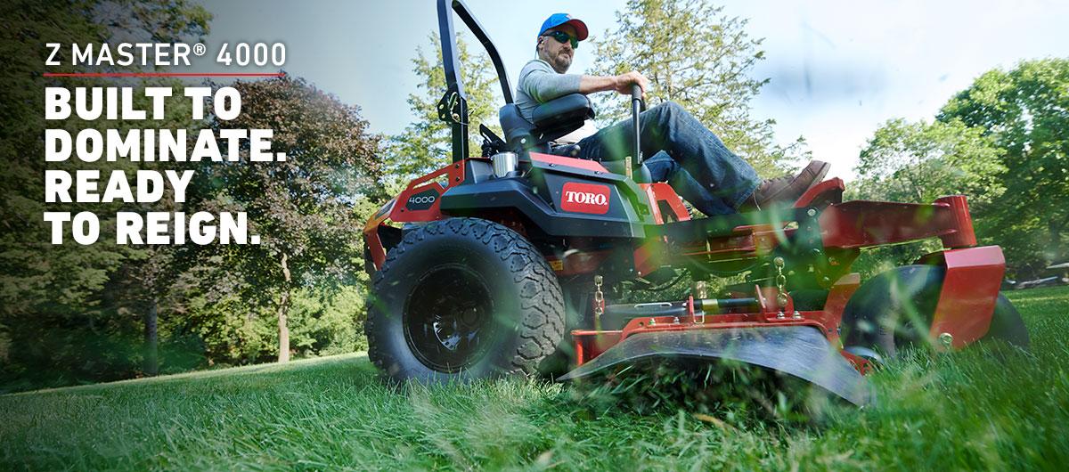 Introducing the NEW Z Master 4000 pro-grade zero turn mower