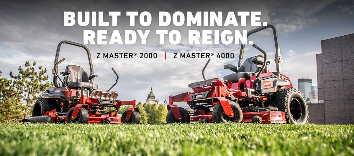 New Toro Z Master 2000 and Z Master 4000 zero turn mowers