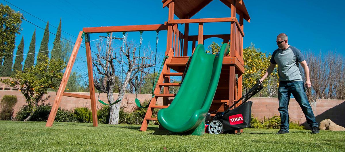 Toro® PoweReverse™ lawn mower with reverse self propel